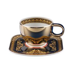 Order Versace Medusa Espresso cup & saucer made of Porcelain easily and securely online. Tea Cup Set, My Cup Of Tea, Cup And Saucer Set, Tea Cup Saucer, Tea Sets, Espresso Cups, Coffee Cups, Vintage Cups, Teapots And Cups