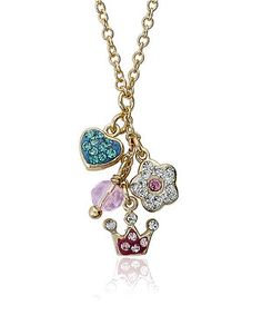 Stylish accesorizers are always looking to add something sparkly to their outfits. This shimmering necklace does just that with a pretty chain and a cluster of dainty crystal charms.