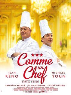 The Chef / Comme Un Chef Directed by Daniel Cohen / Music by Nicola Piovani / Starring Jean Reno and Michaël Youn. Jean Reno, Film Logo, Comme Un Chef, Le Chef, Bon Film, Film D'animation, 2012 Movie, Movie Tv, Happy Movie