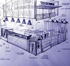 Interior Design For Living Room Kiosk Design, Bakery Design, Cafe Design, Retail Design, Coffee Shop Interior Design, Coffee Shop Design, Restaurant Interior Design, Cafe Concept, Counter Design
