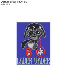 Lader Vader 5x4 by CharlaBUStedStitches on Etsy