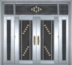 Window Grill Design Modern, Door And Window Design, Home Door Design, Balcony Grill Design, Front Door Design Wood, Grill Door Design, Front Gate Design, Door Gate Design, House Main Gates Design