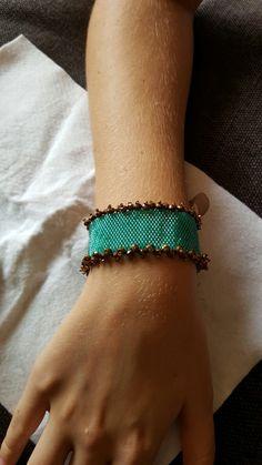 Green peyote bracelet