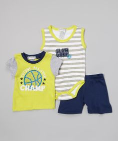 Lime 'Future All-Star' Tee Set | Daily deals for moms, babies and kids