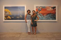 Marcia Mello e Carolina Dias Leite na Galeria Tempo. #artrio #ciga #compartilhearte