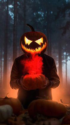 Halloween Glowing Mask - iPhone Wallpapers