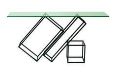 Rectangular glass console table OUTLINE Les Contemporains Collection by ROCHE BOBOIS design Cédric Ragot