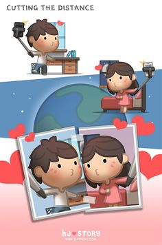 HJ Story - Happy Valentine's day! This episode dedicated to. Hj Story, Love Cartoon Couple, Cute Couple Art, Cute Love Stories, Love Story, Long Distance Love, Cartoons Love, Love Illustration, Cute Anime Couples