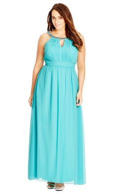 City Chic Jewel Neck Maxi Dress - Women's Plus Size Fashion - City Chic Your…