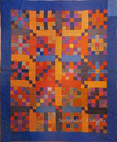 Pieced Quilt ~ Cross In Square. Amish... c1900.