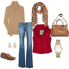 Relaxed and pop of red Fashion Beauty, Fashion Looks, Travel Fashion, Burberry Plaid, Cashmere Sweaters, What To Wear, Style Me, Winter Outfits, Winter Fashion