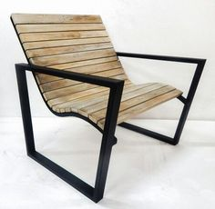 Wave Teak Outdoor Chair $500 Available in stock.