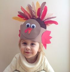 9 Awesome Thanksgiving Crafts to Amuse and Delight Your Children!: A Second Paper Turkey Hat Option 9 Awesome Thanksgiving Crafts to Amuse and Delight Your Children!: A Second Paper Turkey Hat Option Thanksgiving Hat, Thanksgiving Preschool, Thanksgiving Crafts For Kids, Holiday Crafts, Toddler Crafts, Preschool Crafts, Turkey Hat, Turkey Time, November Crafts