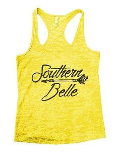 Southern Belle Burnout Tank Top By Womens Tank Tops