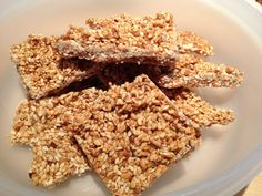 photo 4 Sesame, Krispie Treats, Healthy Recipes, Healthy Food, Vegan, Barre, Cooking, Desserts, Honey