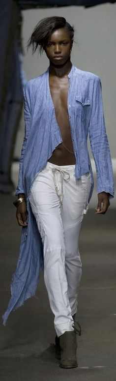 Greg Lauren RTW Spring 2015 ***variation on the theme of shirts..prime candidate for a shirt makeover!!! s-c