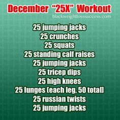 December 2013 Challenge – Holiday Slim Down Part 2
