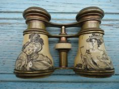 Vintage Opera Glasses 'Ivory' with Erotic Carvings