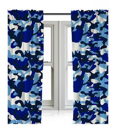 These cool Blue Camouflage Curtains are perfect for any little budding army cadet and are machine washable. Matching bedding available too. Free UK delivery available Camo Curtains, Matching Bedding And Curtains, Kids Curtains, Lined Curtains, Camo Rooms, Blue Rooms, Camouflage Wallpaper, Army Bedroom, Army Decor