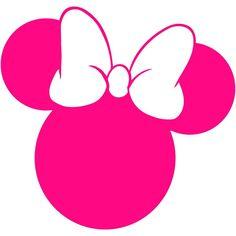 Minnie Mouse Head Vinyl Decal Car Window Bumper Sticker Disney Walt Land World Cute Minnie Mouse Template, Minnie Png, Mickey Minnie Mouse, Minnie Mouse Outline, Minnie Maus Silhouette, Minnie Mouse Theme Party, Disneyland World, Mickey Head, Bumper Stickers