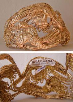 balenciaga headpiece Wonderful half hat of narrow…