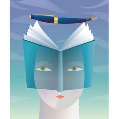 Women readers and writers / Lectoras y escritoras (ilustración de Christiane Beauregard)