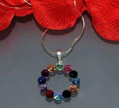 JEWELINE Silver and Swarovski naclace www.jeweline.pl