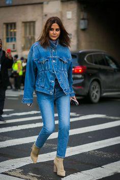 How to Wear Double Denim in 2017, the Christine Centenera Way via @WhoWhatWearAU