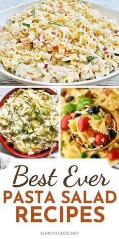 Pasta Salad Recipes - These yummy pasta salad recipes feature fresh, summer ingredients perfect for a summer picnic. So, the next time you are looking for a yummy side dish for your picnic, try one of these yummy delights!