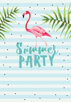 Chill with Flamingo - Free Printable Summer Party Invitation Template | Greetings Island