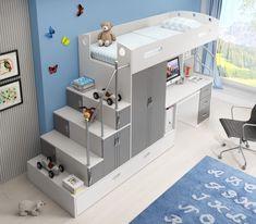 Girls Cabin Bed, Cabin Beds For Kids, Loft Beds For Small Rooms, Cool Kids Rooms, Bedroom Setup, Room Design Bedroom, Room Ideas Bedroom, Small Room Design, Kids Room Design