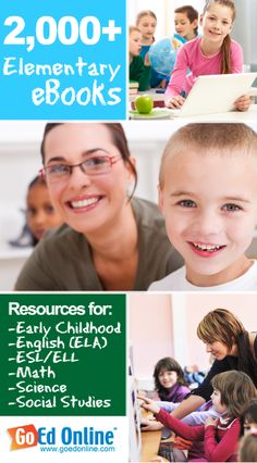 2,000+ Elementary eBooks for Early Childhood, English (ELA), ESL/ELL, Math, Science, Social Studies, and more!