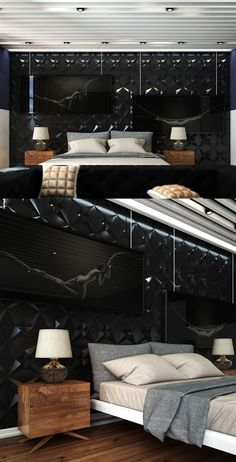 Amazing bedroom design with unique wall painting... | Visit : roohome.com  #bedroom #bed #amazing #awesome #great #fabulous #elegant #gorgeous #interior #creative #design #decoration #beautiful