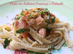 Pasta salmone crescenza e pistacchi   primo piatto veloce