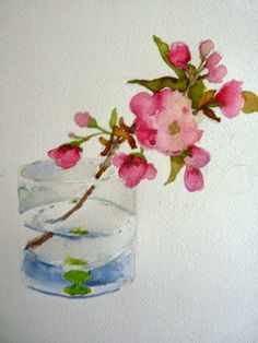 laura's watercolors: cherry blossom