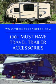 travel trailer living 100 Must Have Travel Trailer RV Accessories The Savvy Campers Best Travel Trailers, Travel Trailer Living, Travel Trailer Decor, Travel Trailer Organization, Travel Trailer Camping, Travel Trailer Remodel, Camping Car, Camping Tips, Rv Camping Checklist