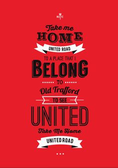 Manchester United United Road Print by KieranCarrollDesign