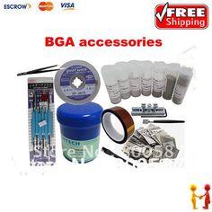136.00$  Watch here - http://aliz39.worldwells.pw/go.php?t=1881364784 - Freeshipping!! Universal BGA Reballing Kit,433pcs stencils, solder flux, BGA accessories best combination for customers