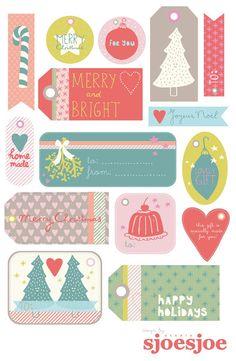 Etichette per i regali di Natale pronte subito e gratis.