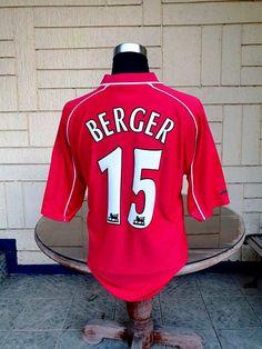 3109a0fc89e CLASSIC FOOTBALL JERSEY CENTER. PATRIK BERGER JERSEY TREBLE- F.A. CUP - CHAMPION ...
