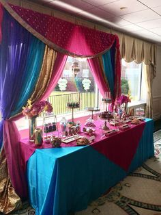 Bollywood Gorgeous Bridal/wedding Shower Party Ideas regarding Bollywood Party Decorations Bollywood Party Decorations, Bollywood Theme Party, Bollywood Wedding, India Theme Party, Moroccan Theme Party, Aladdin Birthday Party, Aladdin Party, Birthday Parties, Arabian Party
