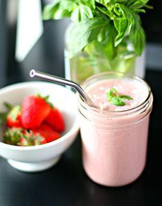 Sweet & Creamy Strawberry Basil Milk | Produce On Parade