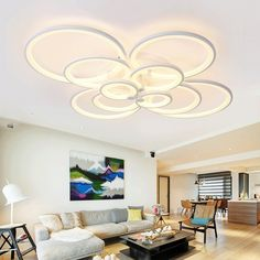 97.33$  Buy here - http://aligbq.worldwells.pw/go.php?t=32702571751 - Modern Led Ceiling Lights For Indoor Lighting Acryl Ring AC 90-260V Lustre Moderno Lumiere Plafond Lamp Luminaria De Teto Lampen 97.33$