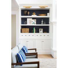 """Dean 18"""" Picture Light Built In Shelves Living Room, Built In Bookcase, Bookcases, Teal Bookshelves, Styling Bookshelves, Decorating Bookshelves, Built In Storage, Living Room Kitchen, Home Living Room"""