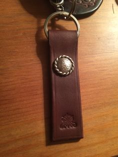 custom made key holder from leather, small but nice accessory