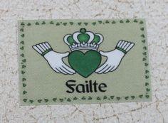 Claddaugh Failte Dollhouse Rug or Welcome Mat by GreenGypsies, $5.00