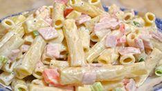 Salad with pasta and mayonnaise recipe - Heavenly Recipes Best Italian Recipes, Greek Recipes, Ham And Cheese Pasta, Pasta Recipes, Salad Recipes, Easy Cooking, Cooking Recipes, Cooking Food, Mayonnaise Recipe