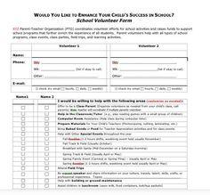 Volunteer Form for 2-Adult Households...Both Parents can sign up on 1 form! Parent Volunteer Form, Sign In Sheet Template, Parents Association, Sign Up Sheets, Pta School, Parent Volunteers, Family Engagement, Parent Communication, School Programs
