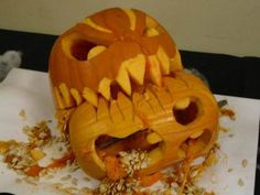 Sweet Pumpkin Carving.