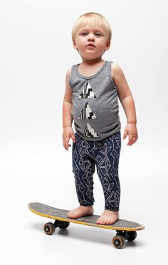 thief and bandit kids - embellished tank tops (plus this kid is adorable on a skateboard)